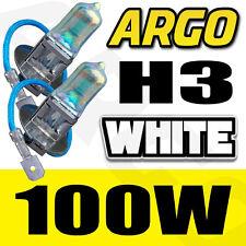 2X H3 100W CAR FOG LIGHT XENON HALOGEN HID SUPER WHITE UNIVERSAL HEADLIGHT BULBS