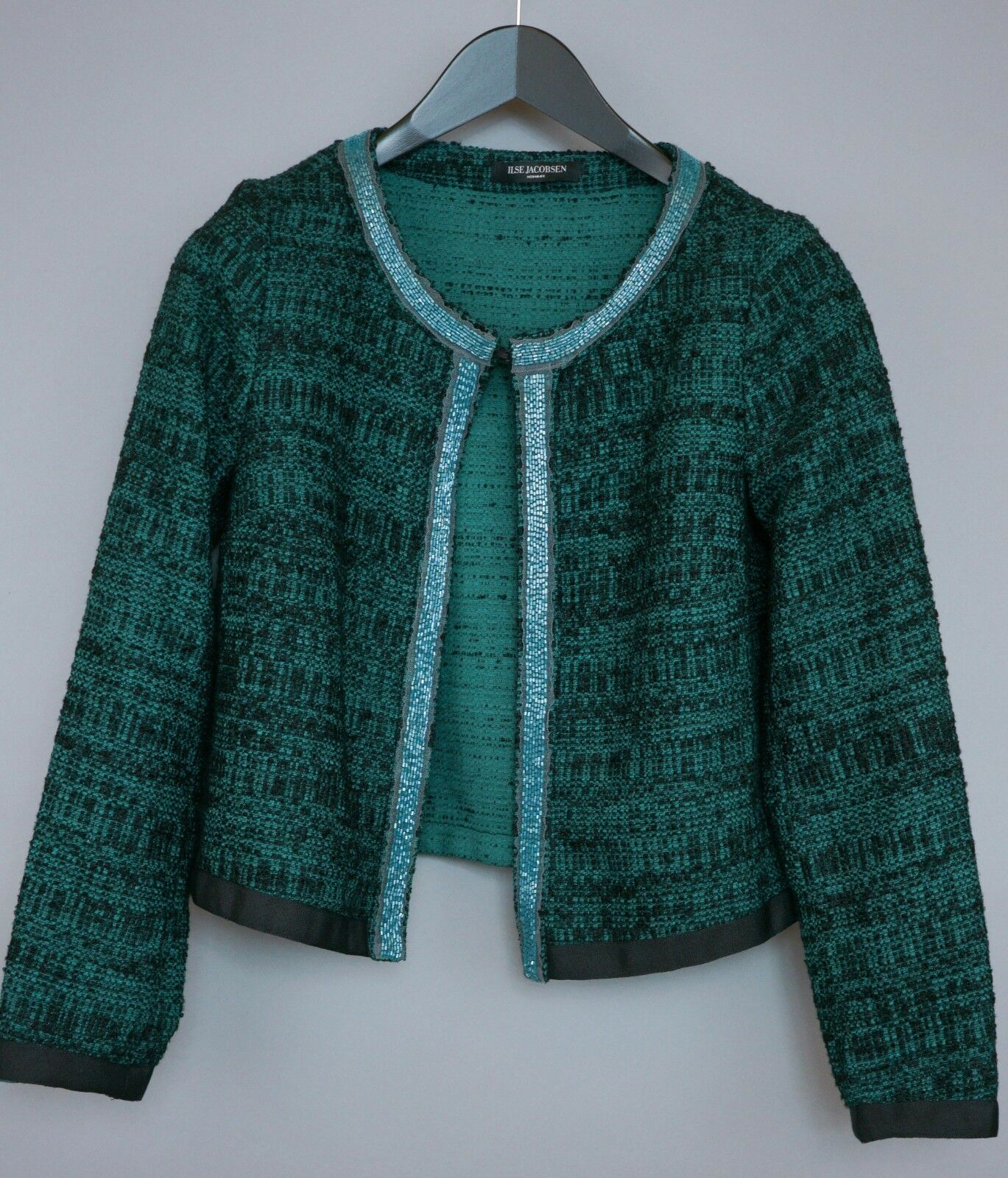 Women Ilse Jacobsen Jumper Cardigan Green Cotton S XOM477