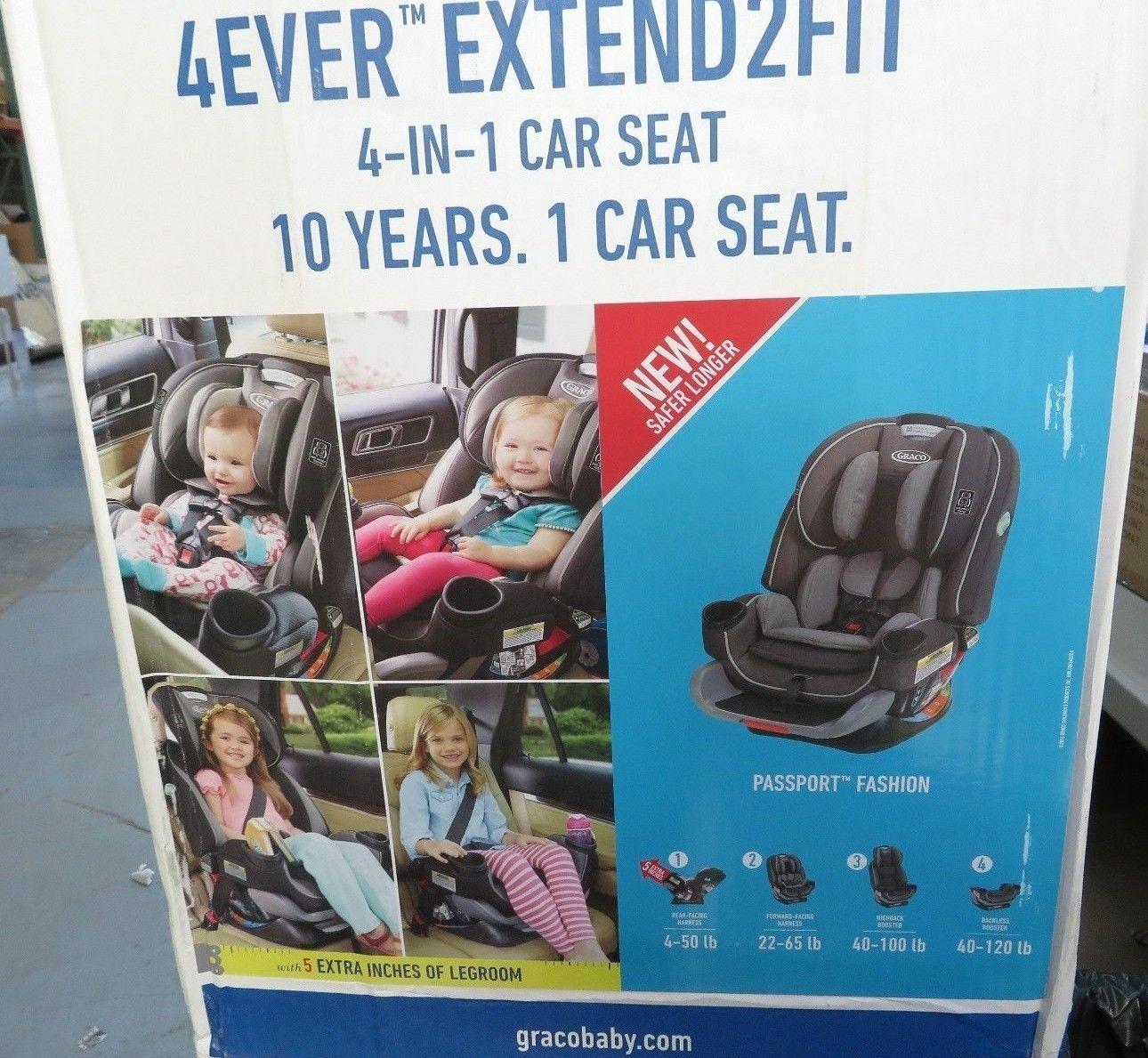 Graco 4ever 4 In 1 Car Seat Extend2fit Passport