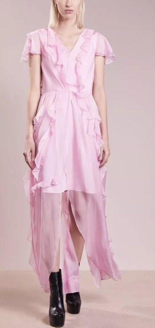 2nd Day ABITO MAXI DRESS rosa SETA 38