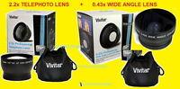 0.43 Wide +2.2x Telephoto Lens 52mm To Camera Pentax K100d K10d K11d K110d K200d