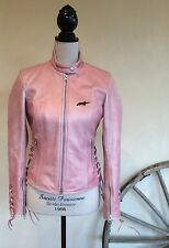 ALPINESTAR STELLA MOTORCYCLE JACKET COAT Insulated Distressed Pink Leather Sz S