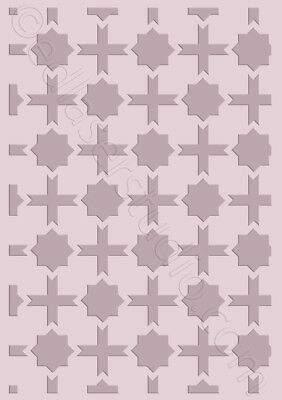 Moroccan Pattern Stencil Template Card making Paint Furniture Wall Crafts TE100