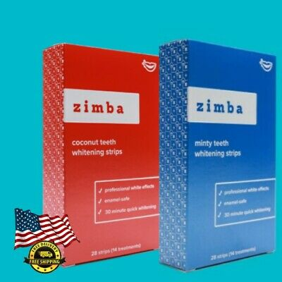 Zimba Teeth Whitening Strips You Choose Flavor And Boxes Ebay
