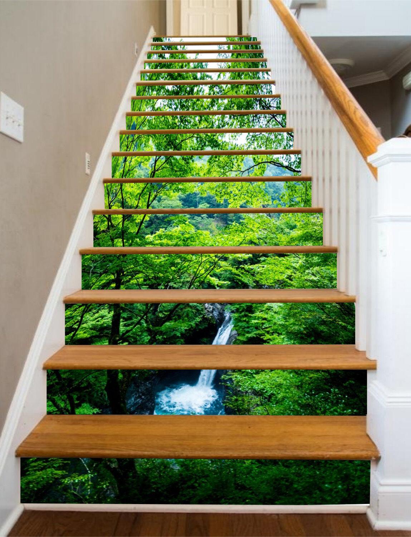 3D Arbres Vert contremarches Décoration Photo Murale Autocollant Vinyle Papier Peint UK