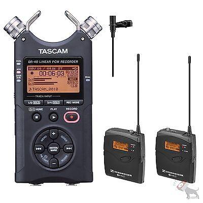 Sennheiser EW 112P EW112P G3 Wireless Lav Mic (A Band) w/ Tascam DR-40