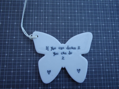 Special gift hanging quote porcelain heart friends love wedding butterfly braver
