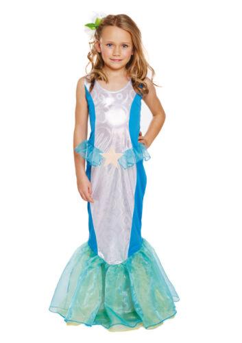 Little Princess Kids Fancy Dress World Book Childs Mermaid Costume 7-9 Years