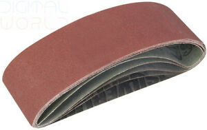 80 /& 120 grits 60 5 each of 40 75 x 533mm Pack of 20 Assorted Sanding Belts