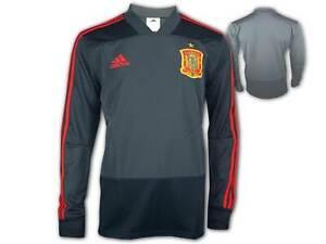 Adidas-Fef-Espagne-training-shirt-gris-WM-EM-Football-Fan-Jersey-Sporttop-S-XXL