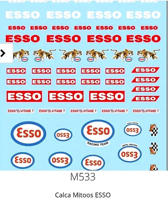 Mitoos M533 Esso Decal Water Slides 1:32 Scale
