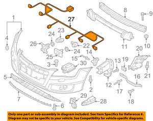 audi oem 12 15 a7 quattro front bumper grille grill wire harness rh ebay com