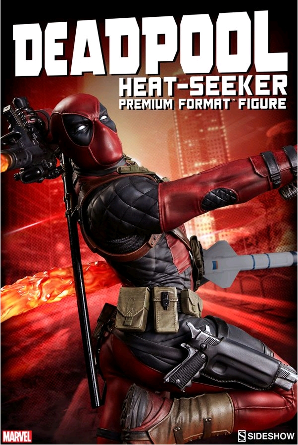 Marvel Sidemostrare Collectibles Deadpool HeatSeeker Premium Format 1 4 Statue