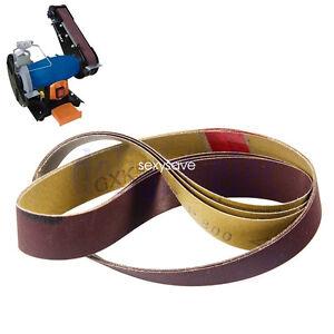 "5PC 1/""x30/"" 25x762mm Sanding Belt Grit 60 80 120 240 Abrasive Sander Tools"