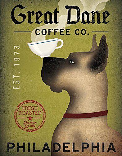 Scooby Doo Brown Great Dane Coffee Co Philadelphia by Ryan Fowler 14x11 Print