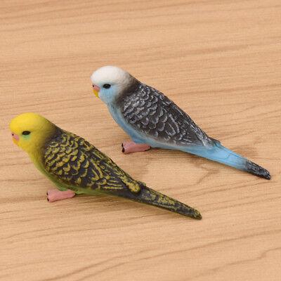 30 cm Parrot modèle bleu artificiel à plumes ANIMAL Ornaments Mariage Decor