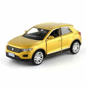 T-ROC-SUV-Off-road-1-36-Metall-Die-Cast-Modellauto-Spielzeug-Model-Sammlung-Gold