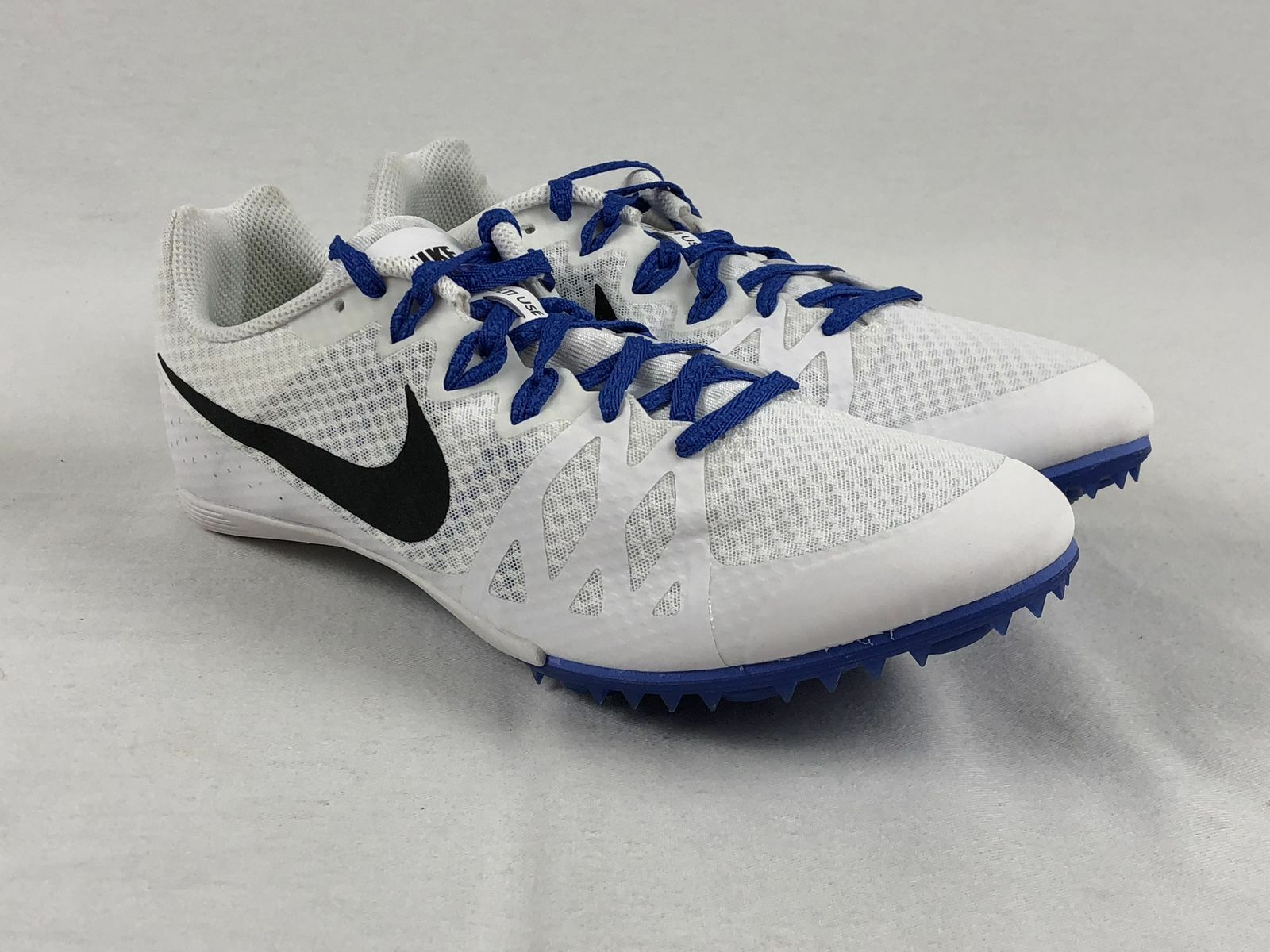 NEW Nike Zoom Rival M8 - White w  bluee Track Spikes (Men's Multiple Sizes)