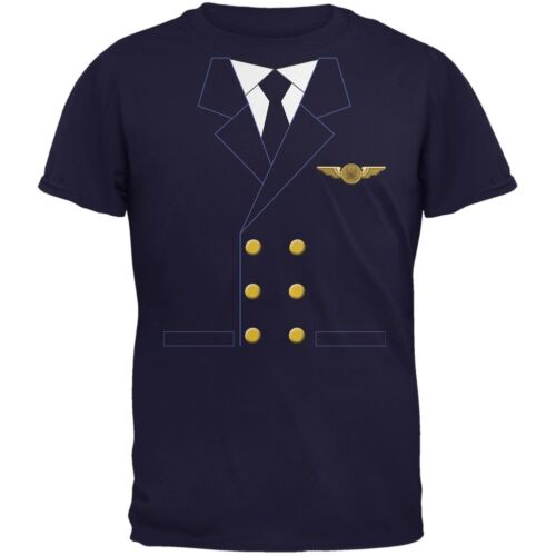 Halloween Airline Airplane Pilot Navy Youth T-Shirt