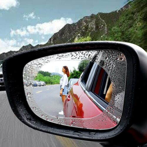 2x Car SUV Anti Water Film Anti Fog Rainproof Rearview Mirror Protective Film UK