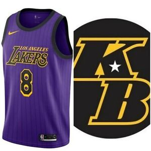 Details about Nike L.A. Lakers Kobe #8 City Edition Jersey with (KB Patch) AV3696-504