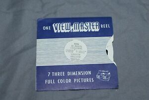 VIEW MASTER SINGLE REEL WITH VIEWS OF ST PAUL`S CATHEDRAL+ BLACK PAPER LEAFLET