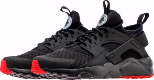 Nike Air Huarache Run Ultra Mens Sz 8 14 Black Red Running Low 9.5 10 819685 012