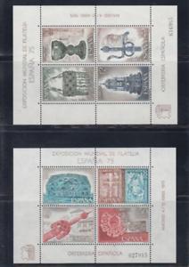ESPANA-1975-NUEVO-MNH-SPAIN-EDIFIL-2252-53-HOJITAS-ORFEBRERIA