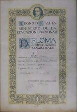 REGNO D'ITALIA DIPLOMA ABILITAZIONE MAGISTRALE TARANTO 1941 [C72]
