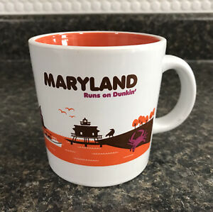 2013 Dunkin Donuts MARYLAND Runs on Dunkin' Destination Collection Coffee Mug
