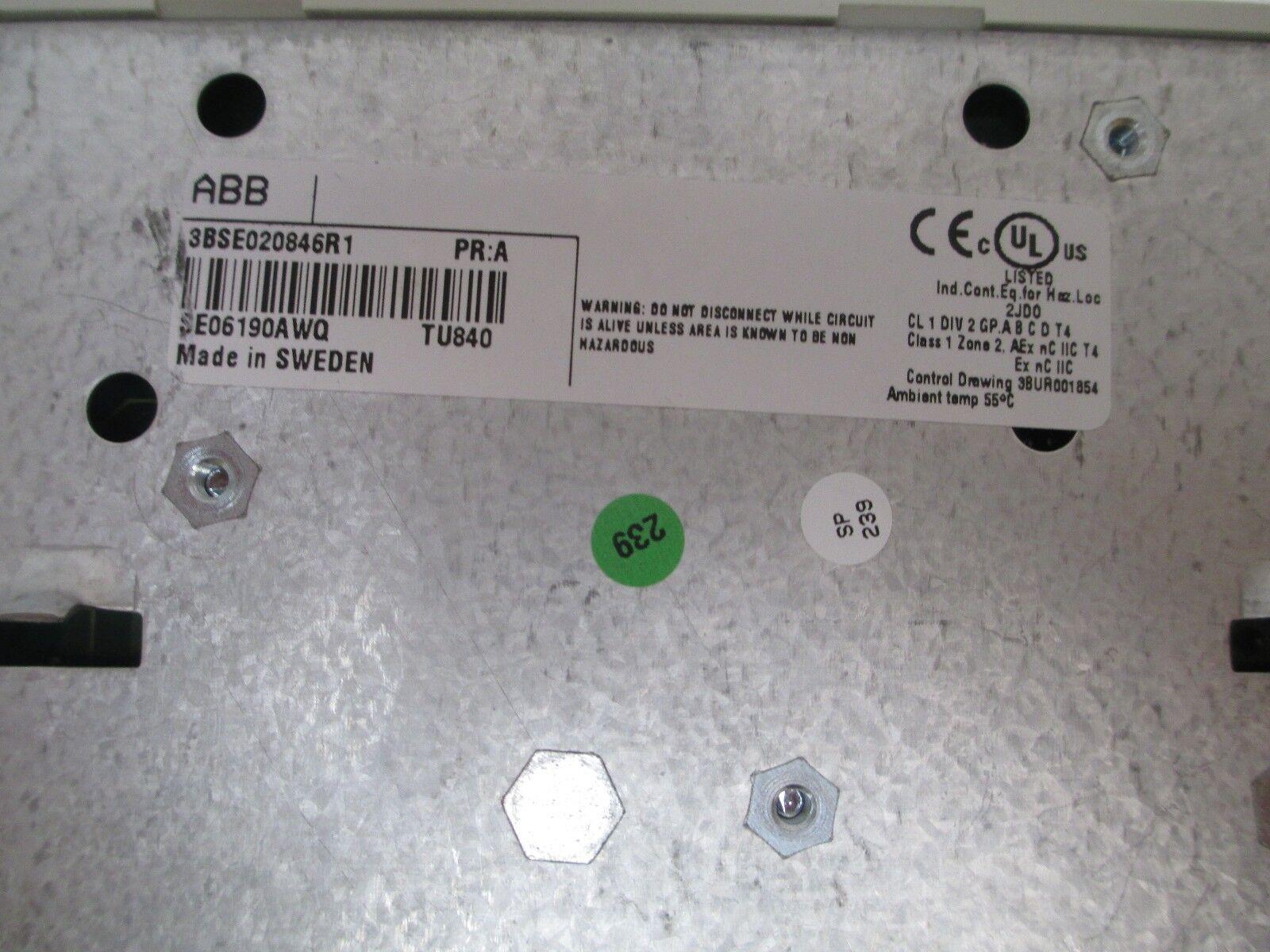 ABB MOUNTING BASE 3BSE020846R1 TU840 PR-A