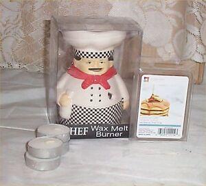 Fat Chef Wax Melts Holder Ceramic Waiter Bistro Decor