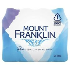 NEW 12-Pack Mount Franklin Pure Australian Spring Water Bottle 500mL - Beverage