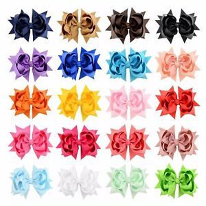 20-Pcs-3-034-Girls-Grosgrain-Ribbon-Boutique-Double-Layer-hairbows-For-Baby-Girls