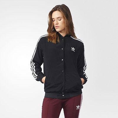 adidas Originals Women's 3 Stripes Trefoil Logo Bomber Jacket Black & White | eBay