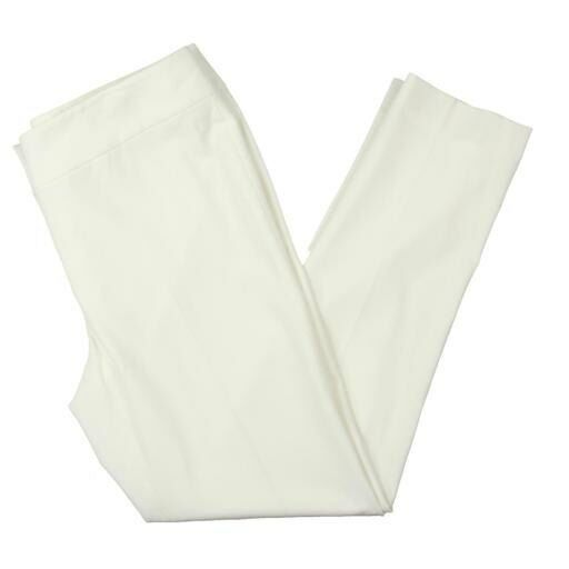179 NINE WEST Womens WHITE SLIM FIT Straight Leg Ankle TROUSERS PANTS SIZE 6