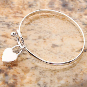 Fashion-Women-Charm-Peach-Heart-Bangle-Bracelet-Cuff-Silver-Plated-Bracelets-LDU