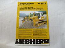 1998 Liebherr Pr732b Crawler Tractor Technical Description Brochure 12 Pages