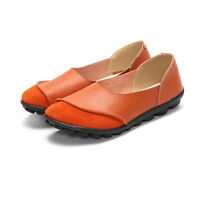 Leather Pump Women Soft Sole Loafers Shoes Ladies Ballet Flat Slipper Shoes Size