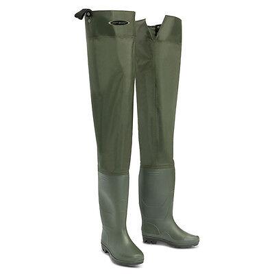 Dirt Boot ® Nylon Coscia Stivali In Gomma 100% Impermeabile Pesca A Mosca Grossolano Muck Dello Stivale-mostra Il Titolo Originale