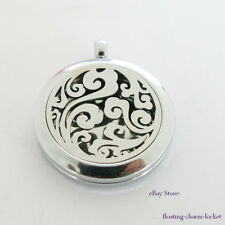 1p Plain Cloud Stainless Steel Aromatherapy Diffuser Locket Pendant X'mas Gifts