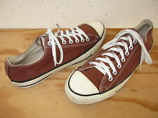 Vtg Mens Converse Made in USA Sz 10.5 All Star Chuck Taylor Low Brown