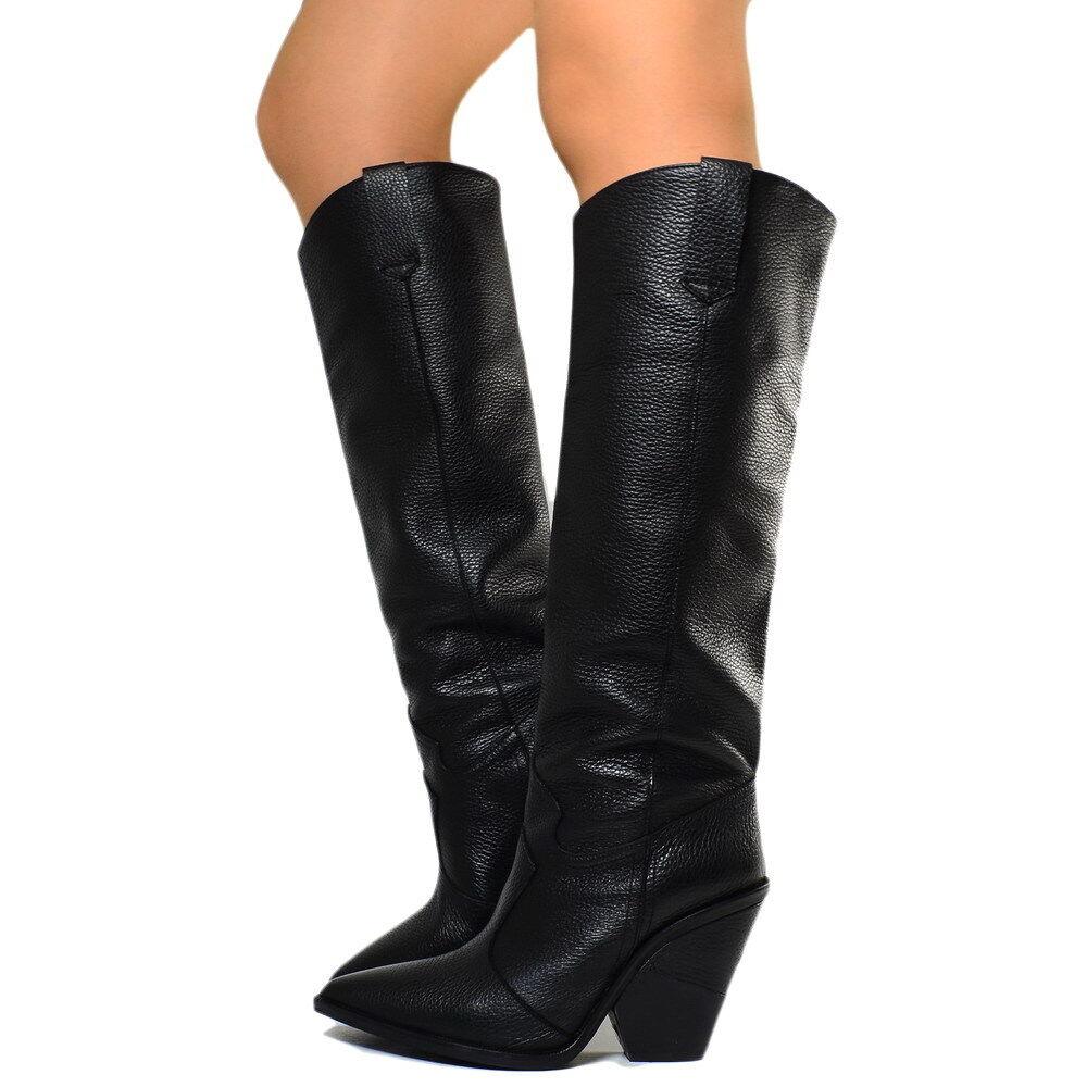 come scegliere vendite calde goditi il prezzo più basso Stivali Donna Donna Donna Alti Camperos Texani Pelle ...