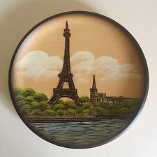 VINTAGE PARIS HANDCRAFTED WOODEN PFAFF COLLECTORS PLATE MADE IN WEST GERMANY