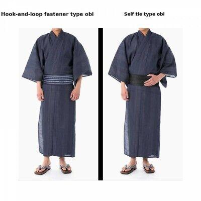 Details about  /Japanese Men/'s Yukata Summer Kimono Obi Koshi-Himo Set C-12 Japan with Tracking