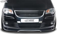 RDX Frontspoiler VW Touran 1T Facelift 06-10 Front Spoiler Lippe Vorne Ansatz
