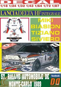 01 DECAL LANCIA DELTA INTEGRALE P.ANDREUCCI R.PORTUGAL 1989 3rd