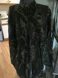 Woolrich-RealTree-Hardwoods-Camo-Long-Sleeve-button-up-hunting-Cotton-Shirt-XL