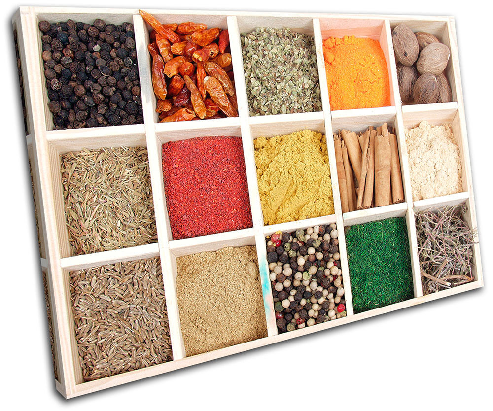 Spices Food Kitchen SINGLE LONA pa rojo  arte arte arte Foto impresion a674ac
