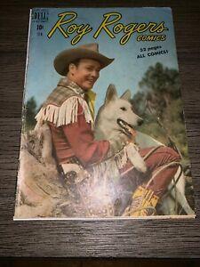 Roy-Rogers-Comics-25-VG-Dell-Golden-Age-Comic-Book-Trigger-1950-JL18